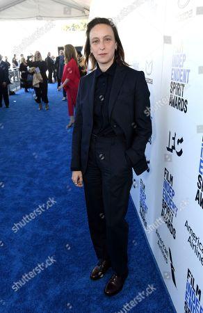 Celine Sciamma arrives at the 35th Film Independent Spirit Awards, in Santa Monica, Calif