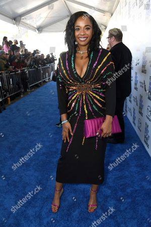 Kimberly Steward arrives at the 35th Film Independent Spirit Awards, in Santa Monica, Calif