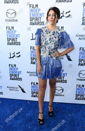 Stephanie Beatriz arrives at the 35th Film Independent Spirit Awards, in Santa Monica, Calif