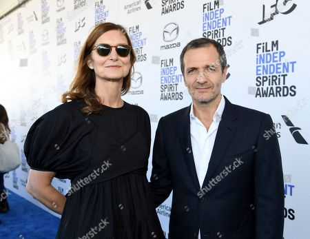 Rose Batstone, David Heyman. Rose Batstone, left, and David Heyman arrive at the 35th Film Independent Spirit Awards, in Santa Monica, Calif