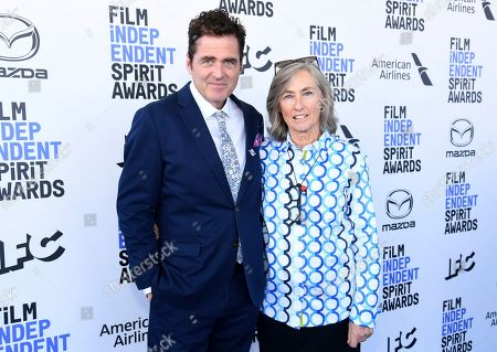 Josh Welsh, Mary Sweeney. Josh Welsh, president of Film Independent, left, and Mary Sweeney arrive at the 35th Film Independent Spirit Awards, in Santa Monica, Calif