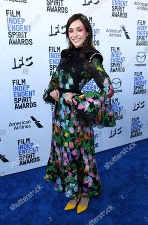 Jocelyn DeBoer arrives at the 35th Film Independent Spirit Awards, in Santa Monica, Calif