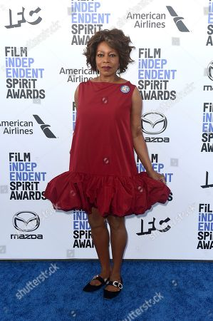 Alfre Woodard arrives at the 35th Film Independent Spirit Awards, in Santa Monica, Calif