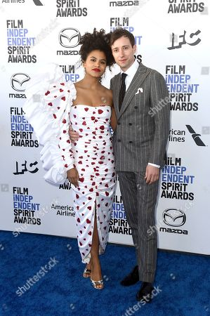 Zazie Beetz, David Rysdahl. Zazie Beetz, left, and David Rysdahl arrive at the 35th Film Independent Spirit Awards, in Santa Monica, Calif
