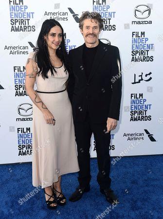 Giada Colagrande, Willem Dafoe. Giada Colagrande, left, and Willem Dafoe arrive at the 35th Film Independent Spirit Awards, in Santa Monica, Calif