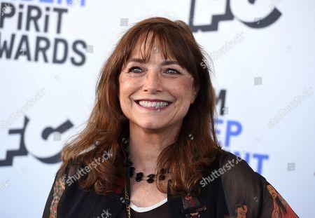 Karen Allen arrives at the 35th Film Independent Spirit Awards, in Santa Monica, Calif