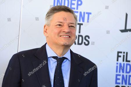 Ted Sarandos arrives at the 35th Film Independent Spirit Awards, in Santa Monica, Calif