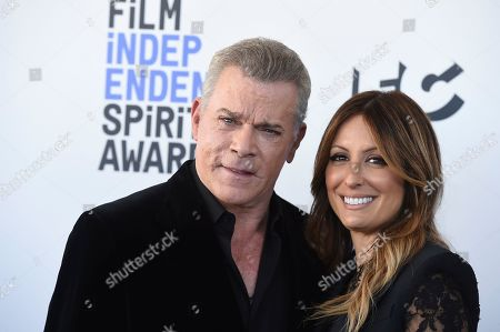 Stock Image of Ray Liotta, Silvia Lombardo. Ray Liotta, left, and Silvia Lombardo arrive at the 35th Film Independent Spirit Awards, in Santa Monica, Calif