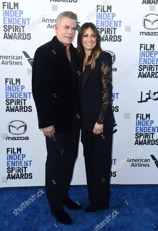 Ray Liotta, Silvia Lombardo. Ray Liotta, left, and Silvia Lombardo arrive at the 35th Film Independent Spirit Awards, in Santa Monica, Calif