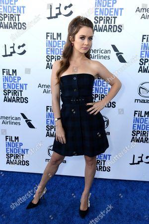 Billie Lourd arrives at the 35th Film Independent Spirit Awards, in Santa Monica, Calif