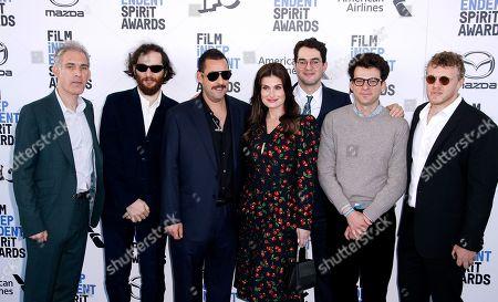 Stock Picture of Eli Bush, Sebastian Bear-McClard, Ronald Bronstein, Adam Sandler, Idina Menzel, Ben Safdie and Joshua Safdie