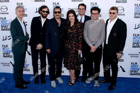 Stock Photo of Eli Bush, Sebastian Bear-McClard, Ronald Bronstein, Adam Sandler, Idina Menzel, Ben Safdie and Joshua Safdie