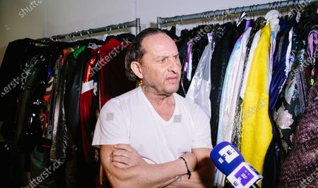 Spanish fashion designer Custo Dalmau, founder of Custo Barcelona during an interview at the fitting room of his runway show in New York, New York, USA, 07 February 2020 (issued 08 January 2020). The designer presents his fall/autumn collection during the New York Fashion Week.