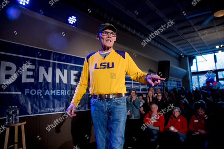 James Carville, a political commentator known for leading former President Bill Clinton's 1992 presidential campaign, speaks before introducing Democratic presidential candidate Sen. Michael Bennet, D-Colo., at a campaign stop at the Spotlight Room at the Palace, in Manchester, N.H