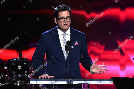 Film Independent President Josh Welsh speaks on stage at the 35th Film Independent Spirit Awards, in Santa Monica, Calif