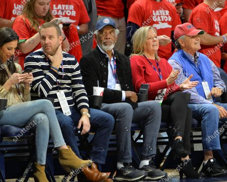 Actor Morgan Freeman watches the game between the Florida Gators and the Ole' Miss Rebels at The Pavillion in Oxford, MS. Kevin Langley/Sports South Media/CSM