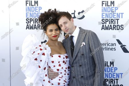 Zazie Beetz (L), and actor US actor David Rysdahl (R) arrive for the 2020 Film Independent Spirit Awards in Santa Monica, California, USA, 08 February 2020. The award ceremony, organized by the non-profit organization Film Independent, honors the finest independent films of the preceding year.