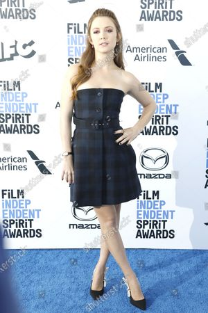 Billie Lourd arrives for the 2020 Film Independent Spirit Awards in Santa Monica, California, USA, 08 February 2020. The award ceremony, organized by the non-profit organization Film Independent, honors the finest independent films of the preceding year.
