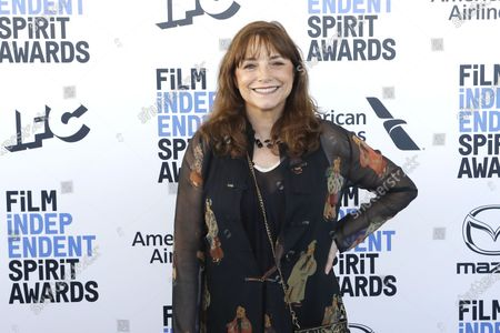 Stock Image of Karen Allen arrives for the 2020 Film Independent Spirit Awards in Santa Monica, California, USA, 08 February 2020. The award ceremony, organized by the non-profit organization Film Independent, honors the finest independent films of the preceding year.