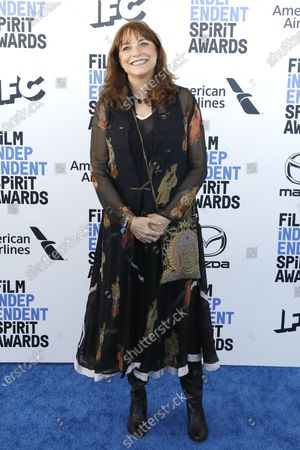 Karen Allen arrives for the 2020 Film Independent Spirit Awards in Santa Monica, California, USA, 08 February 2020. The award ceremony, organized by the non-profit organization Film Independent, honors the finest independent films of the preceding year.