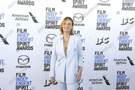 Judith Godreche arrives for the 2020 Film Independent Spirit Awards in Santa Monica, California, USA, 08 February 2020. The award ceremony, organized by the non-profit organization Film Independent, honors the finest independent films of the preceding year.