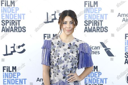 Stock Image of Stephanie Beatriz arrives for the 2020 Film Independent Spirit Awards in Santa Monica, California, USA, 08 February 2020. The award ceremony, organized by the non-profit organization Film Independent, honors the finest independent films of the preceding year.
