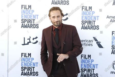 Matthias Schoenaerts arrives for the 2020 Film Independent Spirit Awards in Santa Monica, California, USA, 08 February 2020. The award ceremony, organized by the non-profit organization Film Independent, honors the finest independent films of the preceding year.