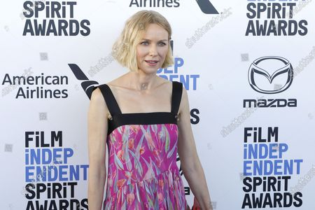 Naomi Watts arrives for the 2020 Film Independent Spirit Awards in Santa Monica, California, USA, 08 February 2020. The award ceremony, organized by the non-profit organization Film Independent, honors the finest independent films of the preceding year.