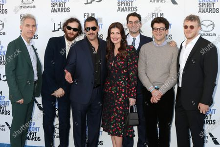 Stock Picture of Eli Bush, Sebastian Bear-McClard, Ronald Bronstein, Adam Sandler, Idina Menzel, Ben Safdie and Joshua Safdie