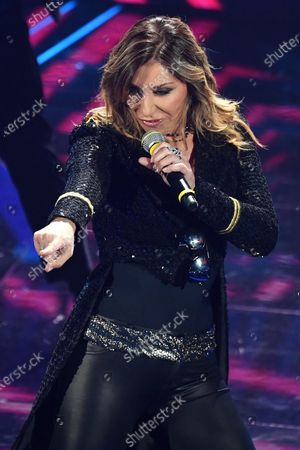 Sabrina Salerno performs on stage at the Ariston theatre during the 70th Sanremo Italian Song Festival, in Sanremo, Italy, 08 February 2020. The festival runs from 04 to 08 February.