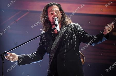 Enrico Nigiotti performs on stage at the Ariston theatre during the 70th Sanremo Italian Song Festival, in Sanremo, Italy, 08 February 2020. The festival runs from 04 to 08 February.