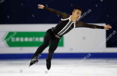 Australia's James Min performs during the men's single free skating competition in the ISU Four Continents Figure Skating Championships in Seoul, South Korea