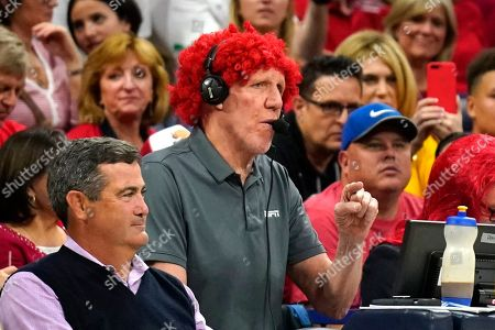 Stock Image of Bill Walton during the first half of an NCAA college basketball game between Arizona and UCLA, in Tucson, Ariz