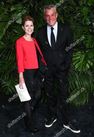 Rosie Fellner and Danny Huston