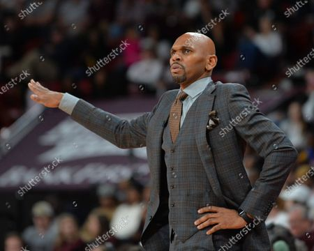 Vanderbilt Head Coach, Jerry Stackhouse, on the sidelines during the NCAA basketball game between the Vanderbilt Commodores and the Mississippi State Bulldogs at Humphrey Coliseum in Starkville, MS. Kevin Langley/Sports South Media/CSM