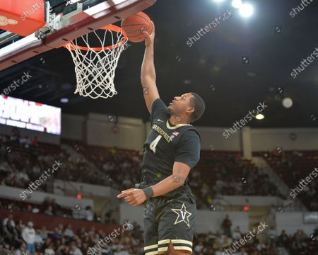 Vanderbilt guard, Jordan Wright (4), gets a slam dunk during the NCAA basketball game between the Vanderbilt Commodores and the Mississippi State Bulldogs at Humphrey Coliseum in Starkville, MS. Kevin Langley/Sports South Media/CSM