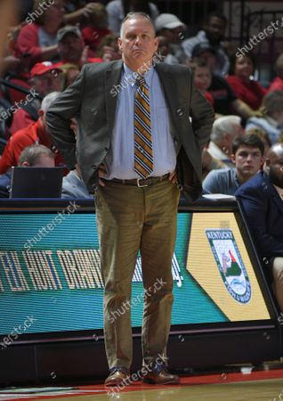 Southern Miss Golden Eagles head coach Jay Ladner watches his teamduring a NCAA basketball game between the Southern Miss. Golden Eagles and the WKU Hilltoppers at E.A. Diddle Arena in Bowling Green, KY (Photo Credit: Steve Roberts.CSM)