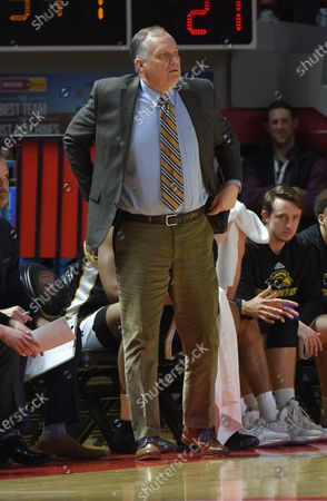 Southern Miss Golden Eagles head coach Jay Ladner paces the side line against the Western Kentucky Hilltoppers during a NCAA basketball game between the Southern Miss. Golden Eagles and the WKU Hilltoppers at E.A. Diddle Arena in Bowling Green, KY (Photo Credit: Steve Roberts.CSM)