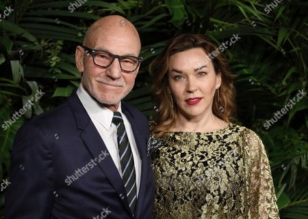 Sir Patrick Stewart, Sunny Ozell. Sir Patrick Stewart, left, and Sunny Ozell arrive at the Chanel Pre-Oscar Dinner at The Beverly Hills Hotel, in Beverly Hills, Calif