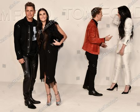 Stock Image of Rob Lowe, Demi Moore, John Owen Lowe and Rumer Willis
