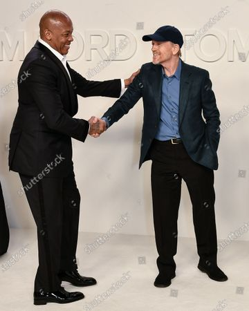 Stock Image of Dr. Dre and Ron Howard