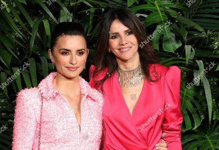 Penelope Cruz, Goya Toledo. Penelope Cruz, left, and Goya Toledo arrive at the 2020 Chanel Pre-Oscar Dinner at The Beverly Hills Hotel, in Beverly Hills, Calif