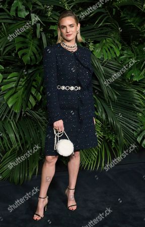 Nathalie Love arrives at the 2020 Chanel Pre-Oscar Dinner at The Beverly Hills Hotel, in Beverly Hills, Calif