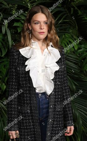 Maggie Rogers arrives at the 2020 Chanel Pre-Oscar Dinner at The Beverly Hills Hotel, in Beverly Hills, Calif