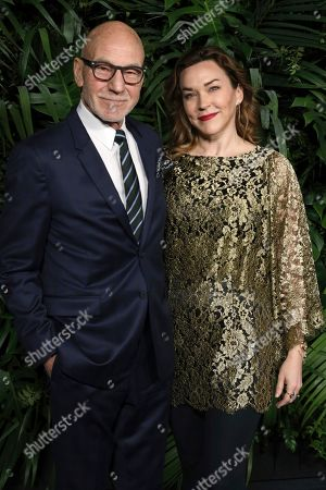 Patrick Stewart, Sunny Ozell. Patrick Stewart, left, and Sunny Ozell arrive at the 2020 Chanel Pre-Oscar Dinner at The Beverly Hills Hotel, in Beverly Hills, Calif