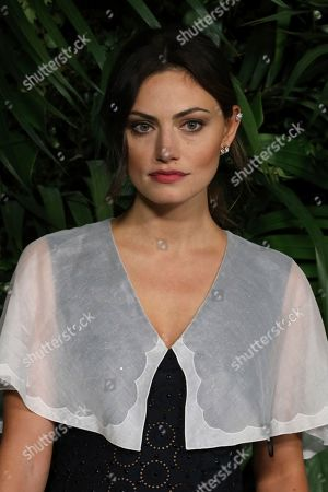 Phoebe Tonkin arrives at the 2020 Chanel Pre-Oscar Dinner at The Beverly Hills Hotel, in Beverly Hills, Calif