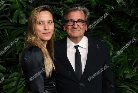 Stock Picture of Anna Bingemann, Griffin Dunne. Anna Bingemann, left, and Griffin Dunne arrive at the 2020 Chanel Pre-Oscar Dinner at The Beverly Hills Hotel, in Beverly Hills, Calif