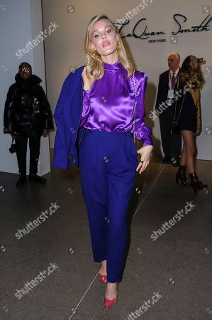 Joy Corrigan attends NYFW Fall/Winter 2020 - LaQuan Smith at Spring Studios, in New York