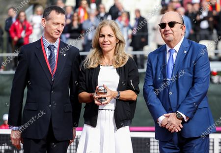 Stock Image of Arantxa Sanchez Vicario receiving the Commitment Award