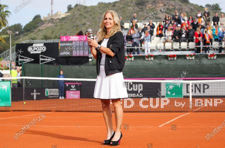 Editorial picture of Commitment Award prize giving, Fed Cup, Tennis, La Manga Club, Cartagena, Spain - 08 Feb 2020